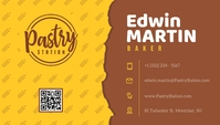 Yellow Pastry Shop Baker Business Card Besigheidskaart template