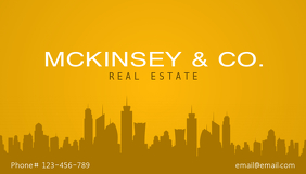 Yellow Real Estate Business Card Template