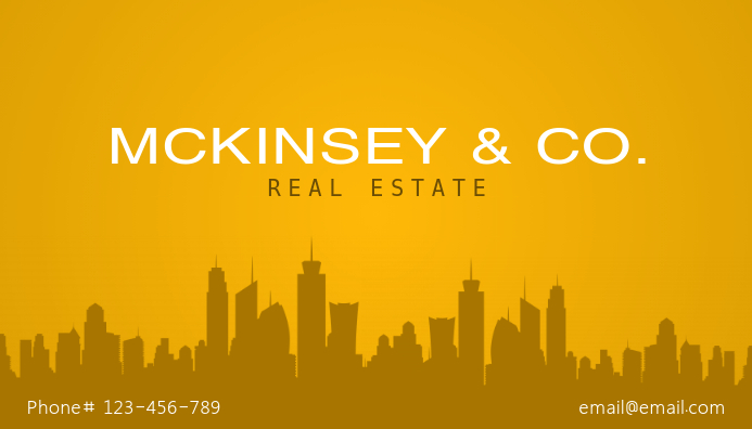 yellow real estate business card template postermywall