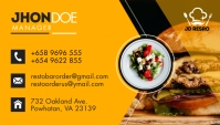 Yellow Restaurant Business Card Design Visitenkarte template
