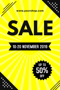 Yellow Sale Poster