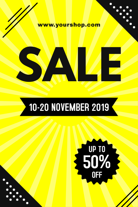 Yellow Sale Poster 海报 template
