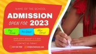 Yellow School Admission Facebook Cover Video