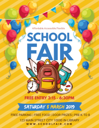 Yellow School Fun Fair Flyer