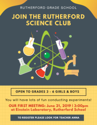 Yellow Science Club Recruitment Poster