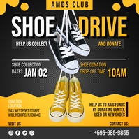 Yellow Shoe Drive Charity Instagram Post Temp template
