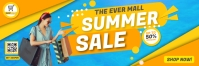 Yellow Shopping Sale Email Header Template En-tête d'e-mail