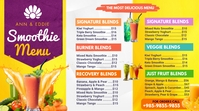 Yellow Smoothie Bar Menu Digital Display Temp template