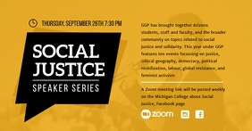 Yellow Social Justice Banner Facebook 共享图片 template