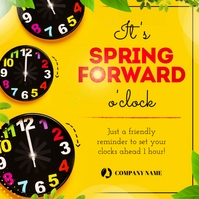 Yellow Spring Forward Instagram Image template
