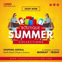 Yellow Summer Boutique Instagram Post Templat Instagram-Beitrag template