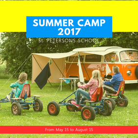 Yellow Summer Camp Template