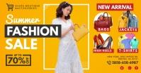 Yellow Summer Fashion Sale Facebook Post Temp template