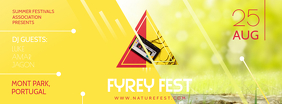 Yellow Summer Festival Invitation Banner Copertina Facebook template