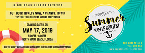 Yellow summer Lottery Contest Ticket Invitation