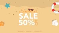 Beach Summer Retail Sale Blog Header Template