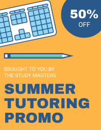 Yellow Summer Tutor Flyer Template
