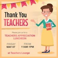 Yellow Teacher Appreciation Day Instagram Ima template