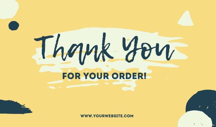 Yellow Thank You For Your Order Templates Merker