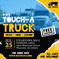 Yellow Touch A Truck Fundraiser Instagam Post Instagram-Beitrag template