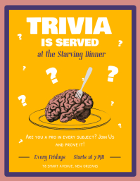 Yellow Trivia Night Flyer template