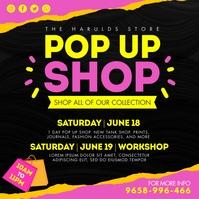 Yellow Vendor Pop Up Shop Instagram Post Temp Wpis na Instagrama template