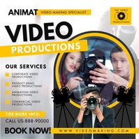 Yellow Video Production Services Instagram Vi template