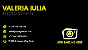 yellow white and black photography business c