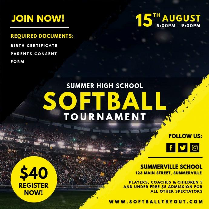 Yellow Women's Softball Tournament Video Ad