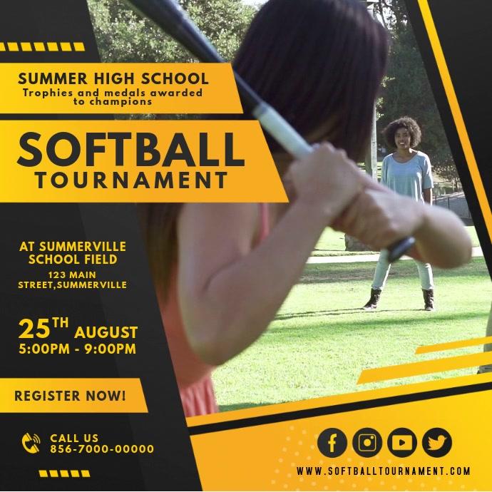 Yellow Women's Softball Tournament Video