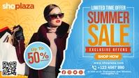 Yellow Women Summer Retail Sale Blog Header T template
