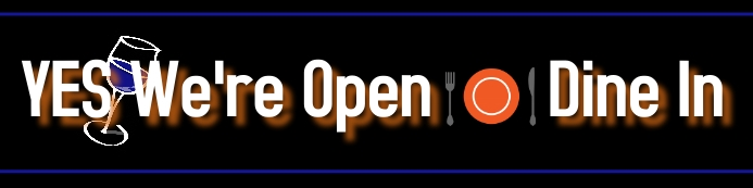 yes we're open/ restaurants/dine in/covid19 Banner 2 x 8 fod template