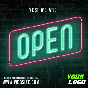 Yes we are open business neon video post