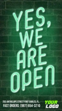 Yes we are open instagram story video ad