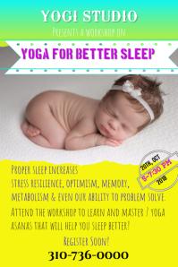 Yoga, Meditation, Sleep therapy Class Poster/Flyer