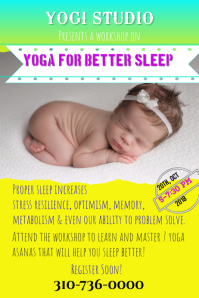 Yoga, Meditation, Sleep therapy Class Poster/Flyer
