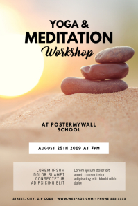 Yoga & Meditation Classes Flyer Template Poster