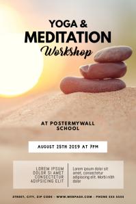 Yoga & Meditation Classes Flyer Template