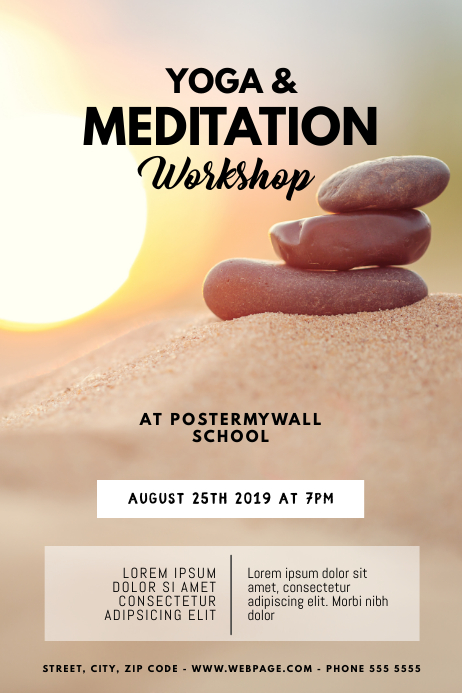 Yoga & Meditation Classes Flyer Template