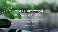 Yoga & Meditation Workshop Course Seminar Ad Digital Display (16:9) template