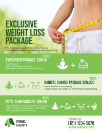 Yoga & Weight Loss Program Flyer