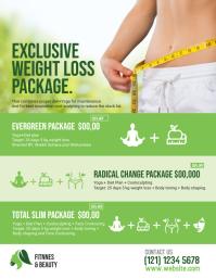 Yoga & Weight Loss Program Flyer
