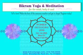 blue- Yoga ,Meditation Session Poster