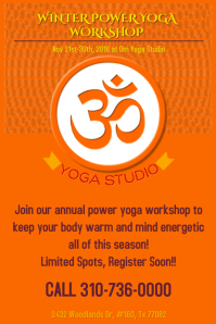 Yoga Poster/Flyer Template
