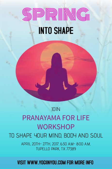 YOGA, MEDITATION POSTER/FLYER TEMPLATE