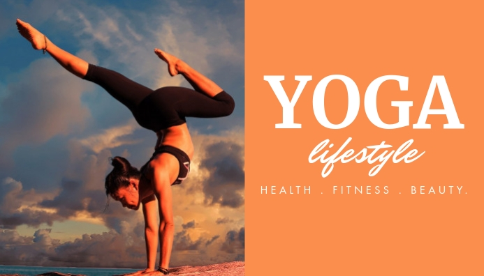 yoga and fitness blog header design template Blog-Kopfzeile