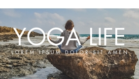 yoga and fitness blog header design template