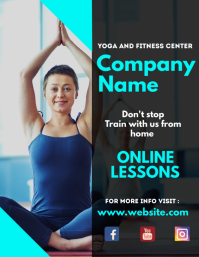 Yoga and fitness center business flyer