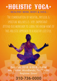 Yoga and Meditation Class Poster/Flyer