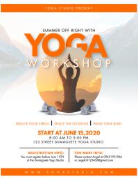 Yoga and Meditation Workshop Flyer Folheto (US Letter) template